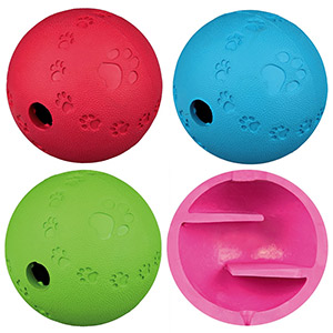 Dog Activity Snack Ball Natural Rubber