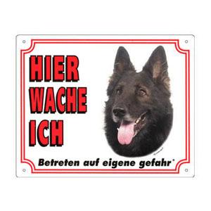 GRATIS Hunde Warnschild, Groenendael