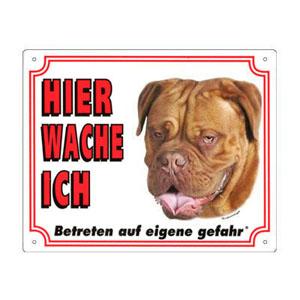 GRATIS Hunde Warnschild, Bordeauxdogge
