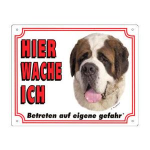 GRATIS Hunde Warnschild, Bernhardiner