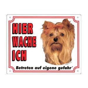 GRATIS Hunde Warnschild, Yorkshire Terrier