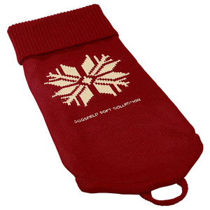 Dog Pullover Snow, Red
