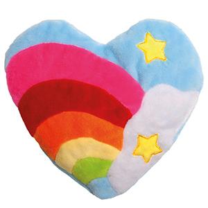 Baldrian-Katzenspielkissen Herz Regenbogen