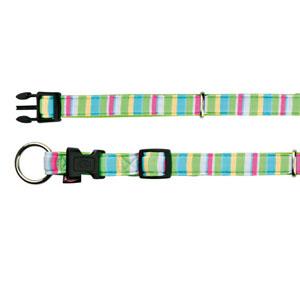 Impression Halsband Stripes Neongrün (35-55cm)