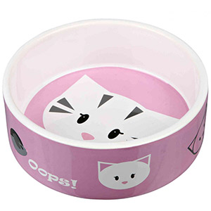 Cat Ceramic Bowl Mimi Pink