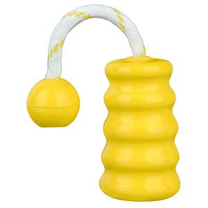 DogActivity Floating Dog Natural-Rubber-Toy Mot-Fun Yellow