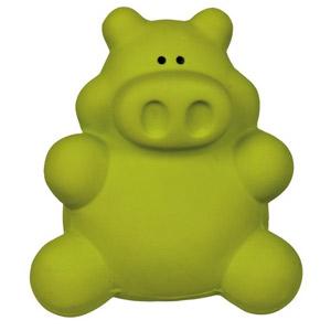 Latex Hundespielzeug Schwein Grün - 10cm