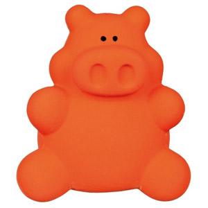 Latex Hundespielzeug Schwein Orange- 10cm