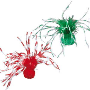 X-Mas Set Balls With Feathers